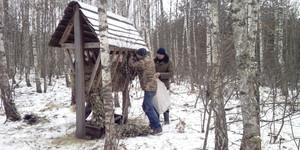 У «Новгород-Сіверському лісгоспі» підгодовують диких тварин
