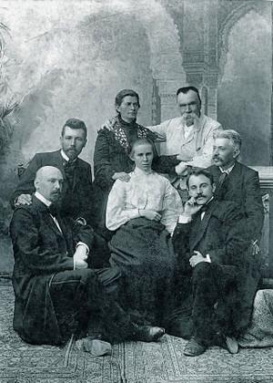 Рука Стефаника на плечі Коцюбинського