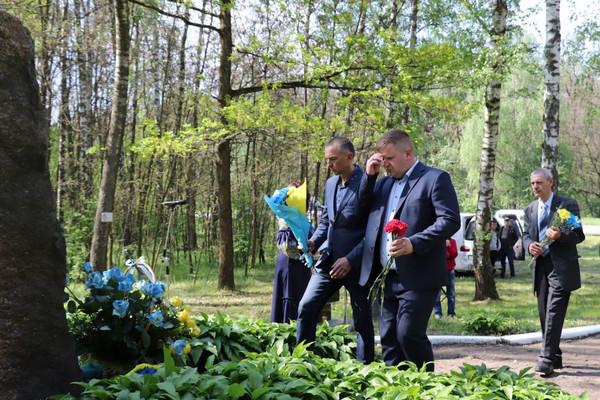 Жалібний захід на Чернігівщині на місці таємного поховання жертв комуністичного режиму